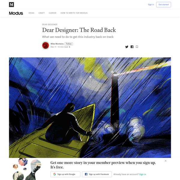 Dear Designer: The Road Back