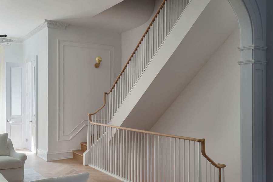 Stairwell in Brooklyn townhouse (designed by Brooklyn Home Company)