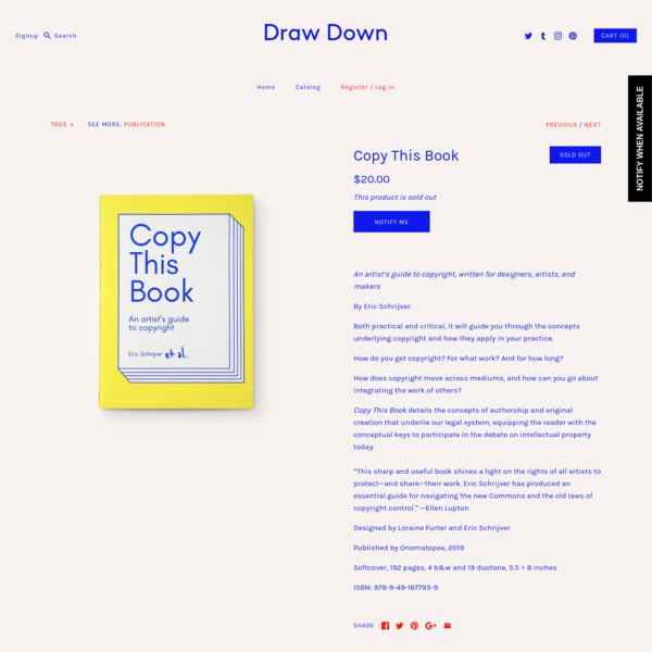 Copy This Book - Draw Down