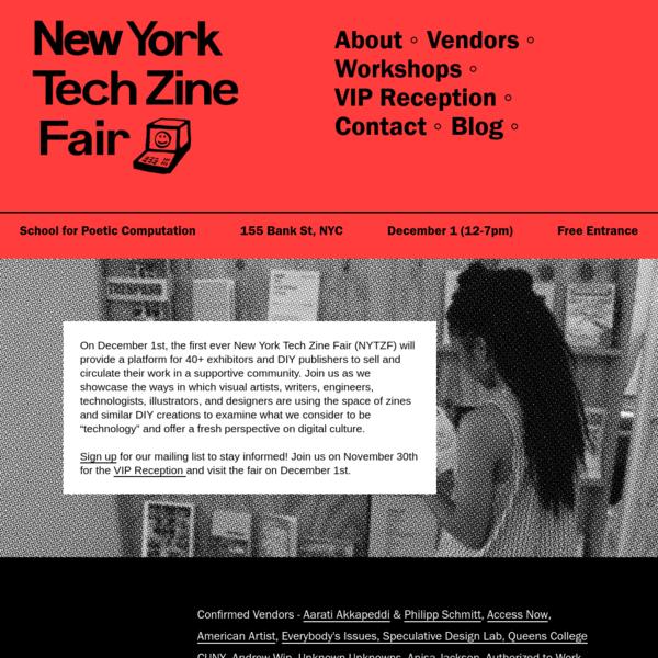 New York Tech Zine Fair