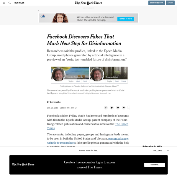 Facebook Discovers Fakes That Show Evolution of Disinformation