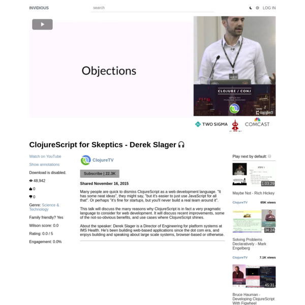 ClojureScript for Skeptics - Derek Slager
