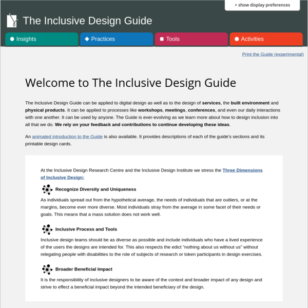 Welcome to The Inclusive Design Guide