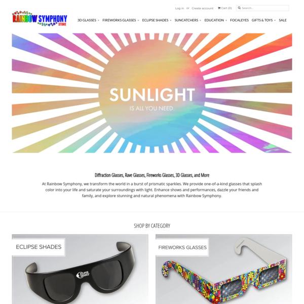 Diffraction Glasses, Window Suncatchers & More | Rainbow Symphony
