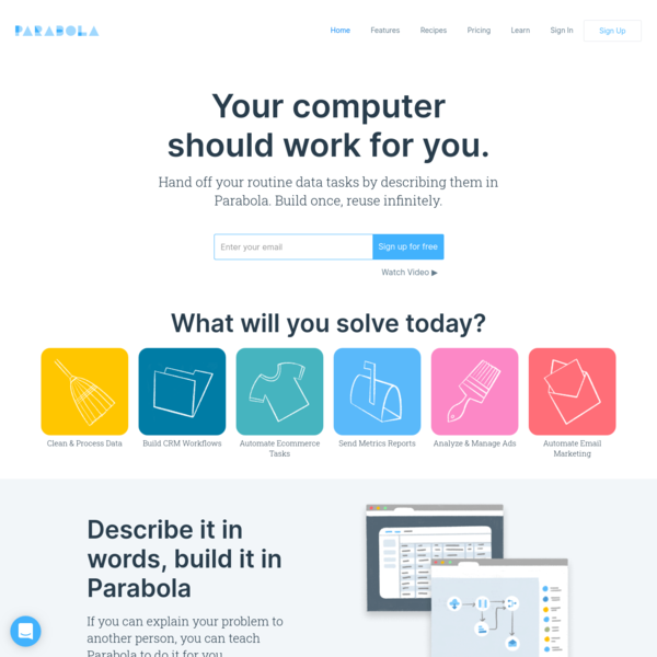 Parabola - Make your computer work for you.