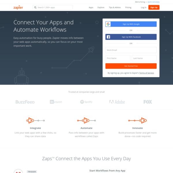 Zapier | The easiest way to automate your work