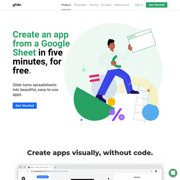 Create an App from a Google Sheet in Minutes · Glide