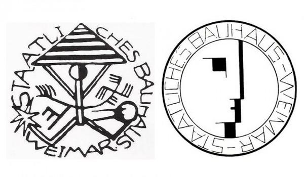Bauhaus signets, 1919 and 1922