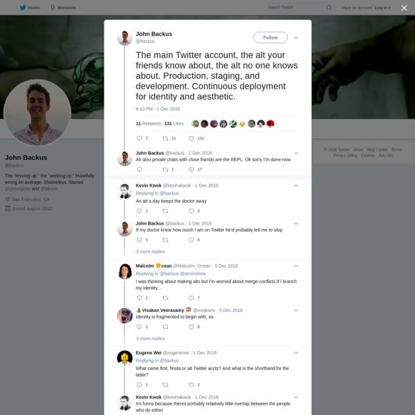 John Backus on Twitter