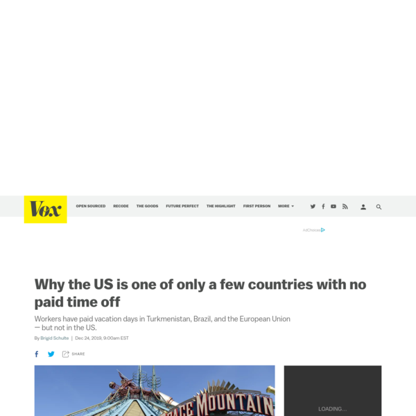 Why the US is one of only a few countries with no paid time off