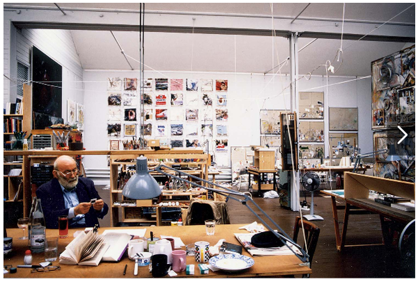 Dieter Roth in his Studio. Basel, Switzerland (1996)