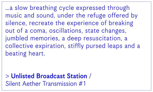 UBS / Silent Aether Transmission #1