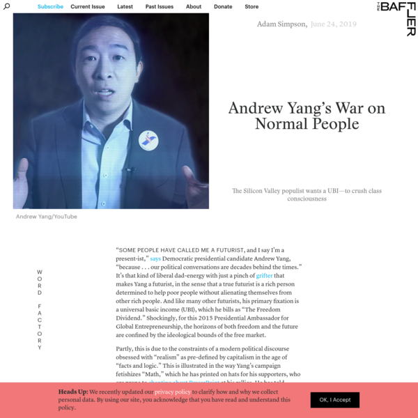 Andrew Yang's War on Normal People | Adam Simpson