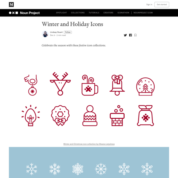 Winter and Holiday Icons