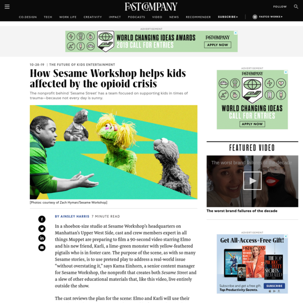 How Sesame Workshop helps kids affected by the opioid crisis