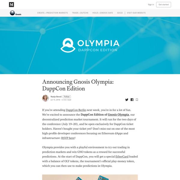 Announcing Gnosis Olympia: DappCon Edition