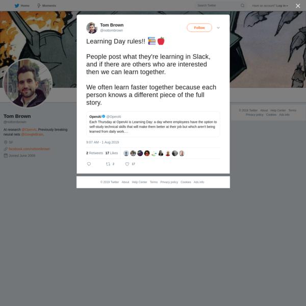Tom Brown on Twitter
