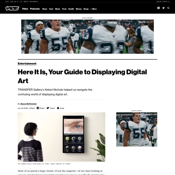 Here It Is, Your Guide to Displaying Digital Art