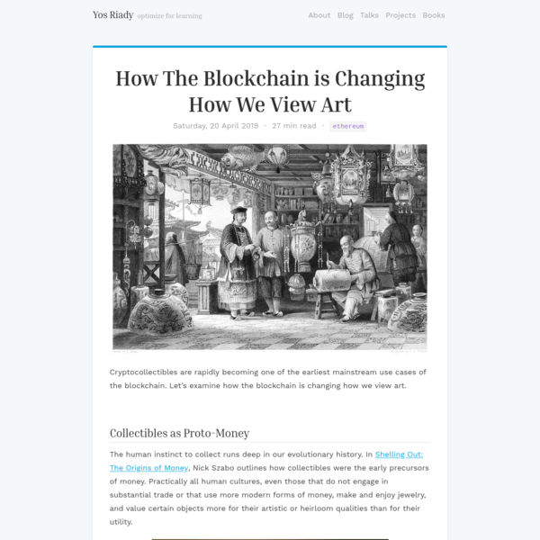How The Blockchain is Changing How We View Art