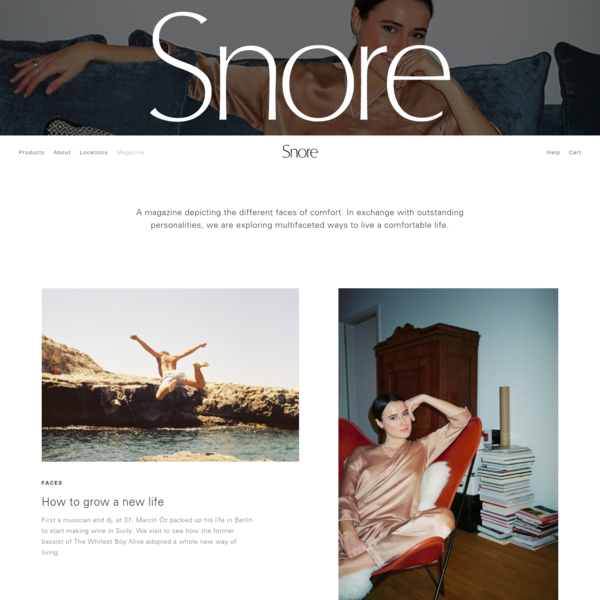 Snore - A magazine by muun