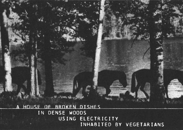 Alison Knowles, A House of Dust, postcard edited by Gebr König Verlag, Cologne, 1967.