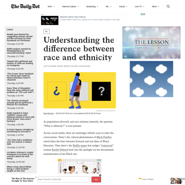 Understanding the difference between race and ethnicity