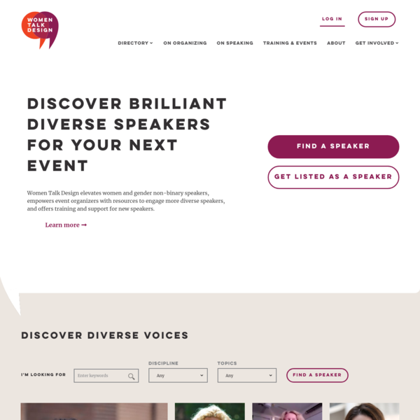Women Talk Design - Discover brilliant diverse speakers for your next event.