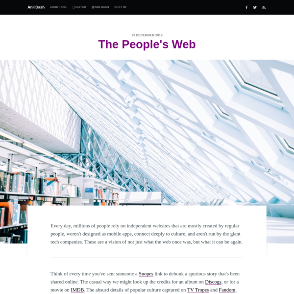 The People's Web