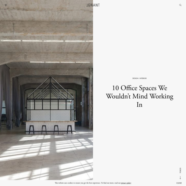 10 Office Spaces We Wouldn't Mind Working In - IGNANT