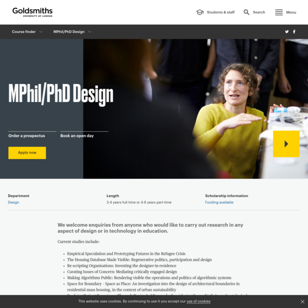 MPhil/PhD Design