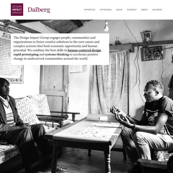 Dalberg's Design Impact Group (DIG) is a new practice that increases impact by incorporating human-centered design and design thinking approaches into our work around the world.