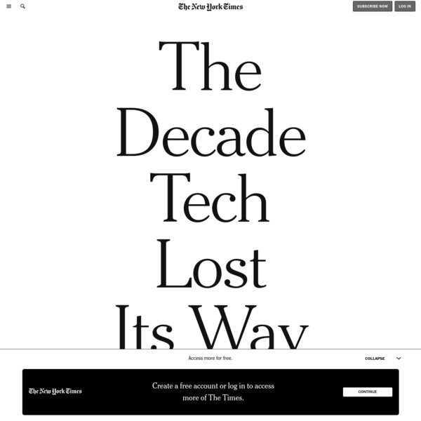 The Decade Tech Lost Its Way