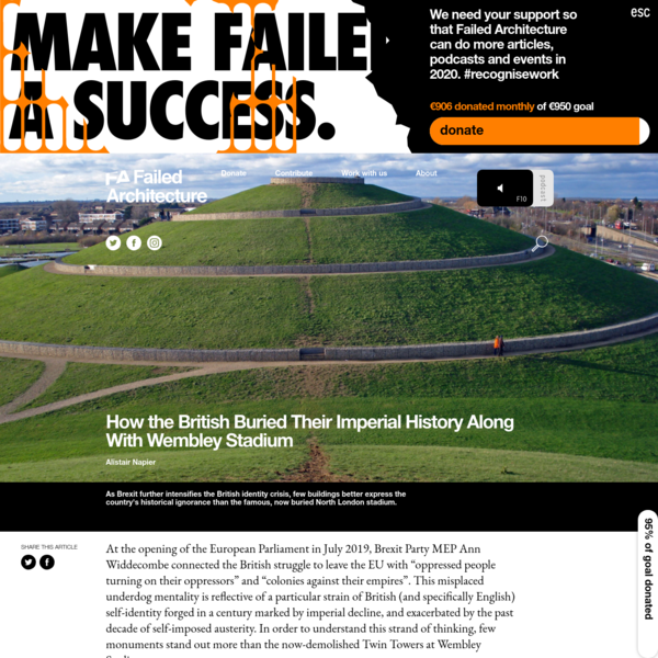 How the British Buried Their Imperial History Along With Wembley Stadium - Failed Architecture