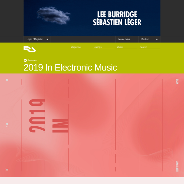 2019 In Electronic Music