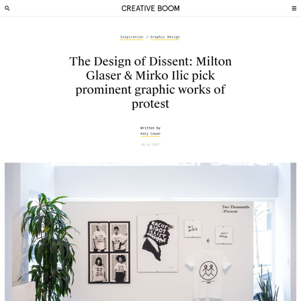 The Design of Dissent: Milton Glaser & Mirko Ilic pick prominent graphic works of protest | Creative Boom