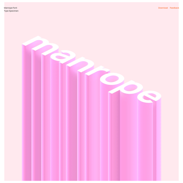 Manrope - free sans-serif variable font