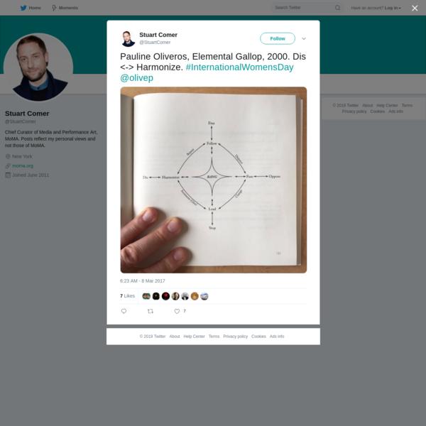 Stuart Comer on Twitter