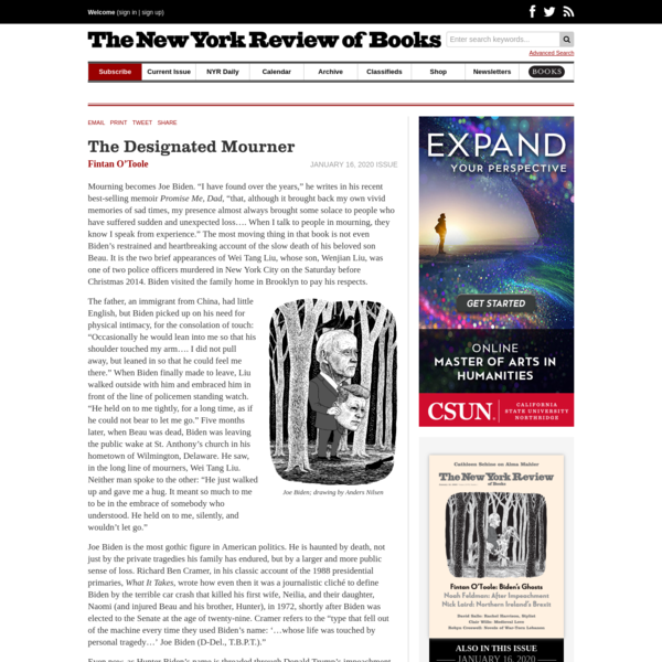 The Designated Mourner | by Fintan O'Toole | The New York Review of Books