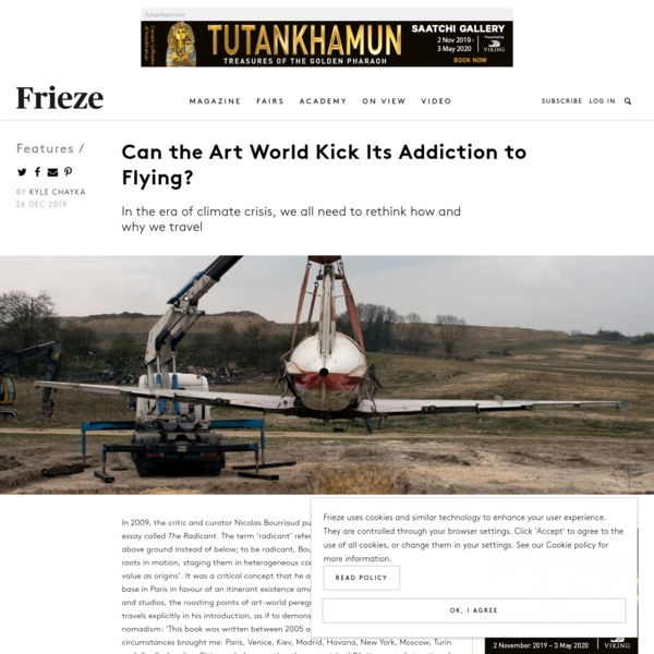 Can the Art World Kick Its Addiction to Flying?