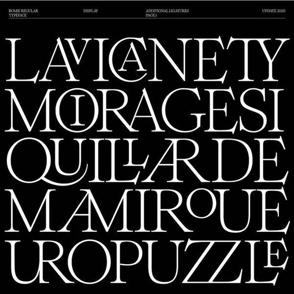 Repost @margot.leveque . Romie regular ligatures . . #youaretypography - #typecollect #typedesign #typespire #typeinspired #...