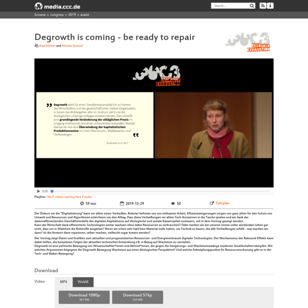 Degrowth is coming - be ready to repair