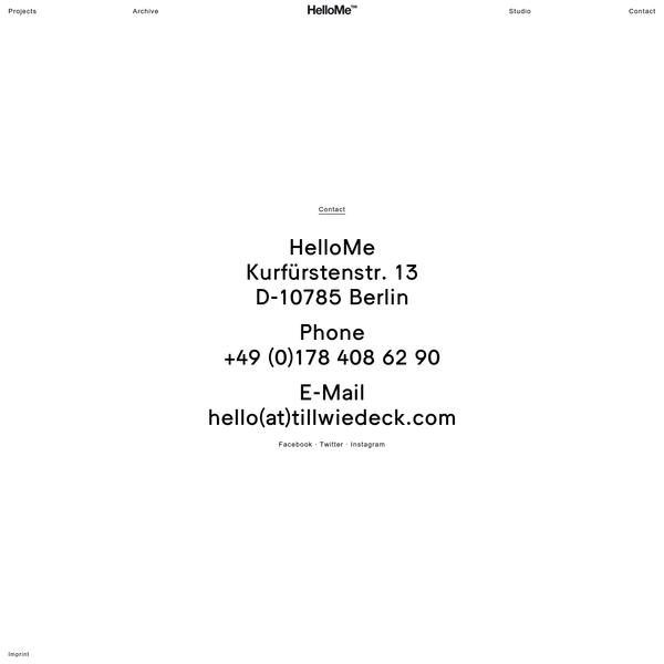 HelloMe - Contact