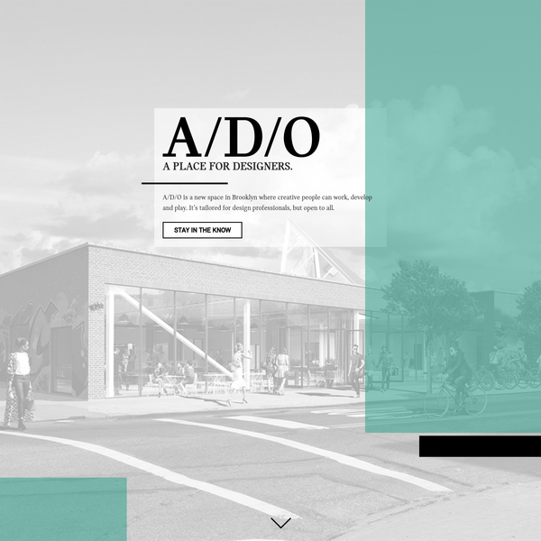 A/D/O is a new space where creative people can work, develop and play. Opening this year at 29 Norman Avenue in Greenpoint, Brooklyn.