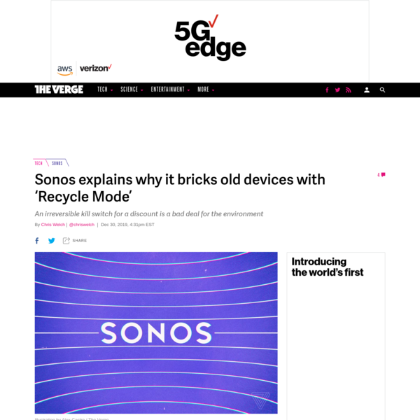 "Sonos explains why it bricks old devices with ""Recycle Mode"""