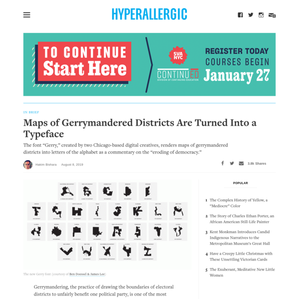 Maps of Gerrymandered Districts Are Turned Into a Typeface