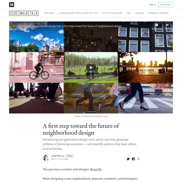A first step toward the future of neighborhood design