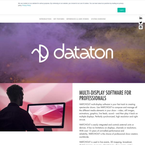 WATCHOUT award winning multi-display software