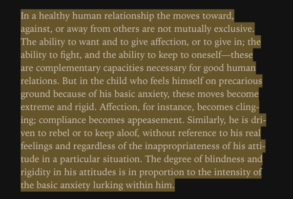 emotional and neurotic rigidity.