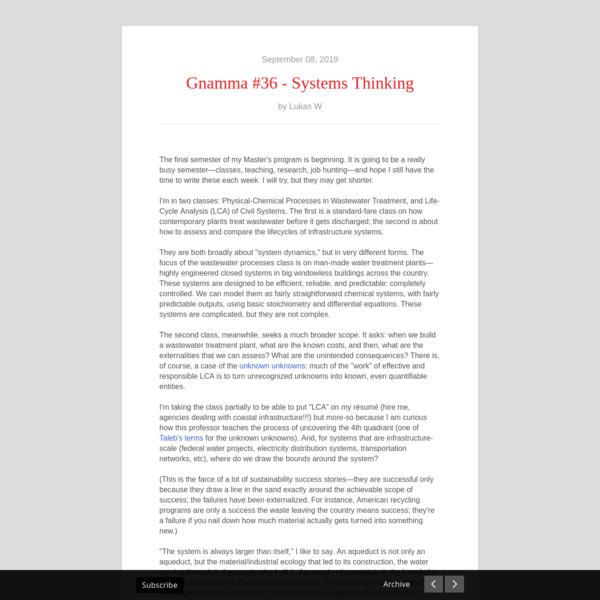 Gnamma #36 - Systems Thinking