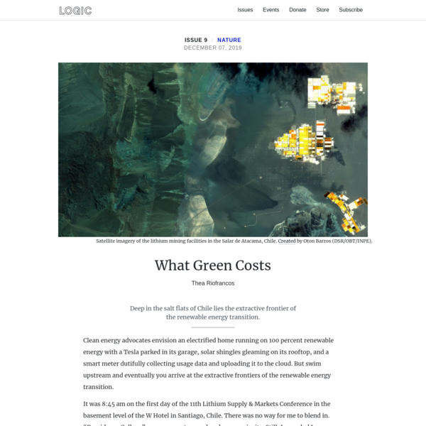 What Green Costs
